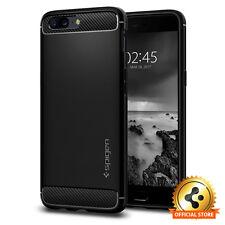 Spigen® OnePlus 5 [Rugged Armor] Slim Protective Shockproof Black TPU