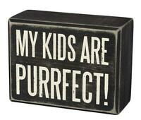 PRIMITIVES BY KATHY WOOD BOX SIGN, KIDS