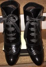 Baltarini ~ Shiny Black Patent Leather Ankle Boots EU37 UK4