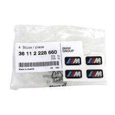 4x ORIGINAL BMW Emblem Plakette Aufkleber M-Zeichen Alufelgen 36112228660