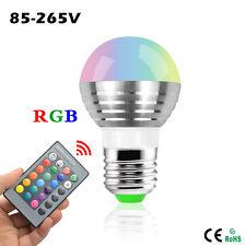 3W RGB E27 E14 GU10 MR16 LED Light Bulb Lamp 16 Colors Changing IR Remote Party