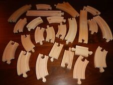 Thomas Brio Compatible Wooden train track Mixed Lot 24 Piece Ascending Switch +