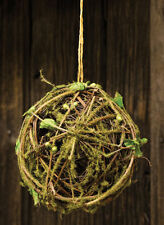 "Moss Twig Ball, 4 1/2"" with Jute String"