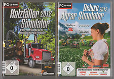 Agrar Simulator Deluxe 2012 Bauernhof + Holzfäller 2012 Sägewerk PC Spiele