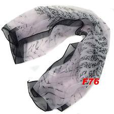 FOULARD SCARF DA DONNA IN CHIFFON MULTICOLORE 60x60CM FIORI MULTICOLORE F76