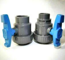 Valvola a sfera PVC monoghiera filettata M/F F/F PN16 10 per irrigazione piscina