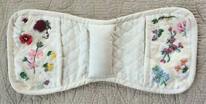 Quilted Decorative Armchair Pin Cushion Caddy Pockets Floral Quilter Seamstress*