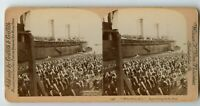 "SS "" St. Paul "" Ship  Vintage US Military Stereoview Photo by W. Rau 1898"
