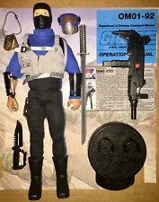 "1992 12"" 12in inch Snake Eyes v1 100% COMPLETE! GI Joe Hall of Fame WORKING GUN!"