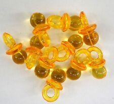 LOT de 10 breloques tétine totoche en plastique couleur orange translucide