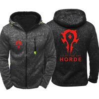 World of Warcraft WOW Hoodie Zipper Print Sweatshirt Casual Coat Jacket Hooded