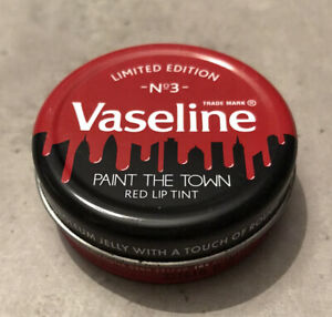 VASELINE PAINT THE TOWN Limited Edition Lip Therapy Tin VERY RARE RED LIP TINT