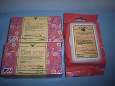 "BOLERO by BEVERLY HILLS ""ARGAN & SHEA BUTTER"" SOAPS (2) & 30CT FACIAL WIPES~NEW"