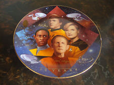 Star Trek-Starfleet Security Plate-Hamilton Collection-With Box-With Coa