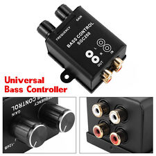 Car Remote Level Volume Amplifier Subwoofer Equalizer Crossover Bass Controller
