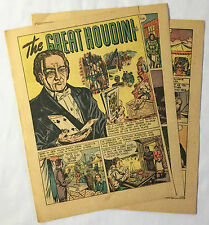 1947 five page HARRY HOUDINI The Great Houdini ~ magician cartoon story