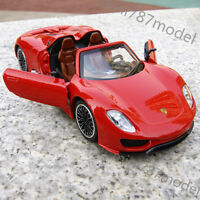 Porsche 918 Spyder 1:32 Model Cars Alloy Diecast Collection&Gifts Toys Red New
