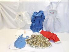 MES-55041Neuzeitliche 7 Teile Puppenkleidung L: blaues Kleid ca.35cm