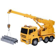 New 1/18 5Ch Remote Control Rc Crane Heavy Construction Lifting Truck Toy Us