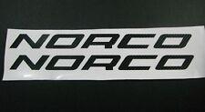 Norco Vinyl Sticker / Decal Pair 380mm X 30mm Carbon Black Metallics Chromes.