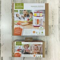 New Infantino Fresh Squeezed Squeeze Station Baby Food Maker Plus 50 Pouches