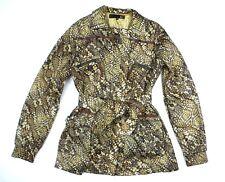 Women's Roberto Cavelli Just Cavalli Animal Print Raincoat Size 42