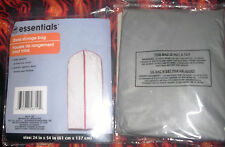"""DRESS - HANGING STORAGE BAG  Lot of 2 >by Essential >24"""" x 53.5"""" >Gray >NEW"""