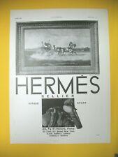PUBLICITE DE PRESSE HERMES SELLIER VOYAGE SPORT ARTICLES LUXE 1930