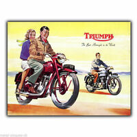 Triumph The Best Motorcyle Retro Vintage Advert METAL SIGN WALL PLAQUE art print