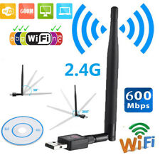 600Mbps USB Wifi Router Wireless Adapter PC Network LAN Card Dongle + 5 Antennas