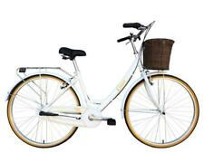 "Tiger Classic Ladies 700c 3 Speed 17"" Alloy Vintage Dutch Style Bike Cycle White"