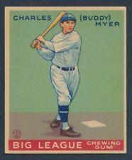 BASEBALL 1933 GOUDEY BIG LEAGUE CHEWING GUM #78 CHARLES (BUDDY) MYER !! B33