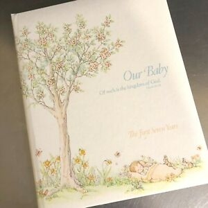 VTG Baby Record Book Journal Our Baby Christian Theme CR Gibson USA Neutral