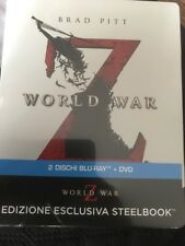 WORLD WAR Z BLU-RAY STEELBOOK LIMITED EDITION IMPORT REGION FREE BRAND NEW