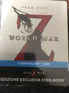 WORLD WAR Z BLU-RAY STEELBOOK LIMITED EDITION IMPORT REGION FREE BRAND NEW