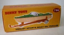 Repro box Dinky nº 796 Healey Sports Boat On trailer