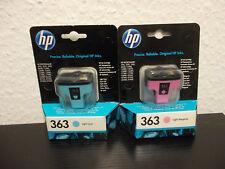 2er Pack Original HP 363  Light Cyan und Light Magenta Tinte C8774EE + C8775EE