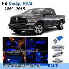 For 2009-2015 Dodge RAM 1500 2500 3500 Premium Blue LED Interior Lights Kit