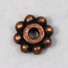 5mm Antique Copper TierraCast Pewter Beaded Daisy Spacer #CK207