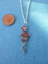 "Cheshire Cat Charm Pendant Necklace 18"" Alice in Wonderland Birthday Gift  #113"