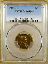 1922-D PCGS MS64 BN Lincoln Cent