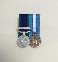 Court Mounted Miniature Medals, UN Cyprus, GSM Northern Ireland, CSM, Mini