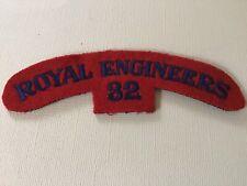 WW2 Royal Engineers 32 Regiment Cloth Shoulder Title Badge