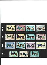 A SET OF UNMOUNTED MINT STAMPS FROM BELIZE BUTTERFLIES