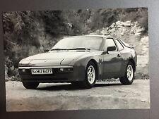 1986 Porsche 944 Coupe B&W Press Photo RARE!! Awesome L@@K