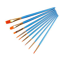 Synthetic Paint Brush, Pack of 10, Model Paint Brush - Miniature Crafting