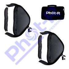 "PhotR 2x 40cm/16"" Folding Softbox Diffuser Photo Studio Hotshoe Flash Speedlight"