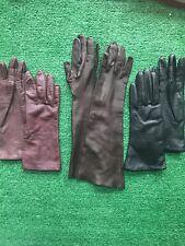 Lot Of Vintage Leather Gloves Sz S 6.5 Ladies Soft Driving Luxury Brown Black