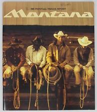 Pontiac 1998 Trans Sport Montana Sales Brochure / Literature