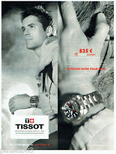 PUBLICITE ADVERTISING 056  2010  Tissot  montre Touch Expert & Michael Owen